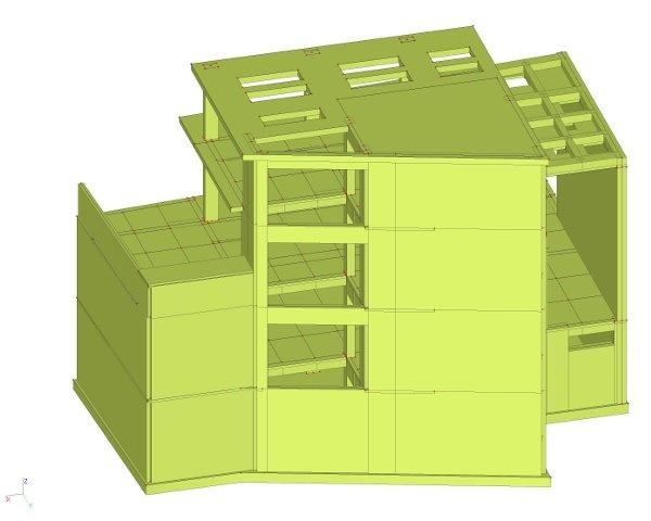 Dreigeschoss wohnheim in pylaia thessaloniki architekten for Finite elemente tragwerk